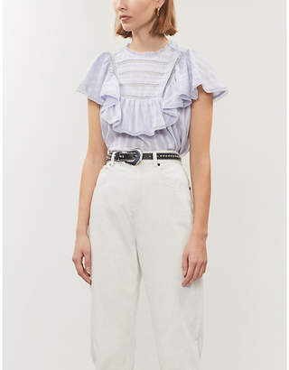 Etoile Isabel Marant Pleyel sleeveless striped cotton-poplin top