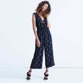 Madewell Wrap-Front Culotte Jumpsuit in Vine Scatter