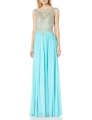 Jovani Jvn By JVN by Women's Chiffon Sheer Neckline Prom Gown