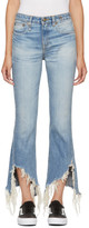 R 13 Blue Kick Fit Long Jeans