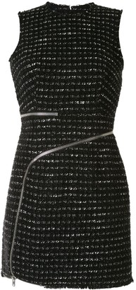 Alexander Wang Curved Zipper Tweed Dress