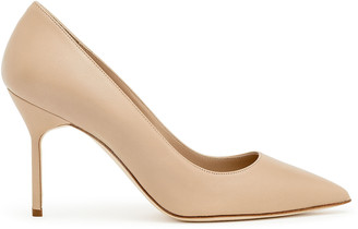Manolo Blahnik BB90 nude nappa pumps