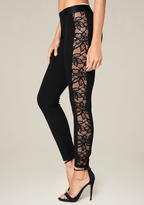 Bebe Lace Tux Leggings
