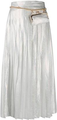 Seen Users Glitter Pleated Skirt