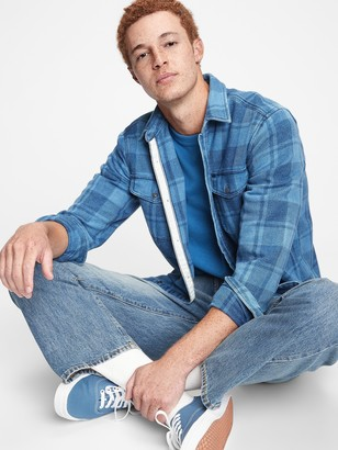 Gap Plaid Worker Shirt in Standard Fit