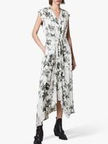 AllSaints Tate Evolution Hanky Hem Dress, Chalk White