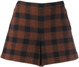 RED Valentino Check Pattern Shorts