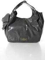 Valentino Garavani Nuage Gray Patent Leather Large Hobo Handbag