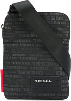 Diesel logo print shoulder bag