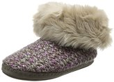 totes Women Ladies Lurex Knit Boot Hi-Top Slippers,S UK 36/37 EU