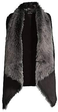 Elie Tahari Women's Quinn Reversible Shearling Vest