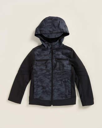 Urban Republic Boys 8-20) Black Pewter Camouflage Full-Zip Softshell Jacket