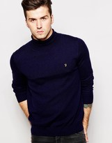 Farah Jumper With Roll Neck - Blue