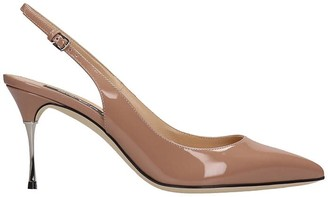 Sergio Rossi Pumps In Powder Patent Leather