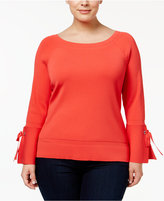 INC International Concepts Plus Size Bell-Sleeve Sweater, Only at Macy's