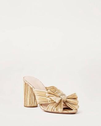 Loeffler Randall Penny Bow Sandal Gold