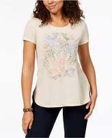 Style&Co. Style & Co Printed High-Low T-Shirt, Created for Macy's