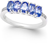 Macy's Tanzanite (1-1/4 ct. t.w.) and Diamond Accent Ring in 14k White Gold