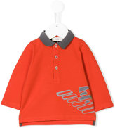 Armani Junior printed polo top