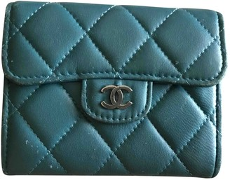 Chanel Timeless/Classique Blue Leather Purses, wallets & cases