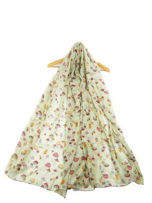 By Claudiajason MUSHROOM Print Scarf TOADSTOOL Fashion Ladies Soft Wrap/Cover-up/Shawl/Scarves (grey)