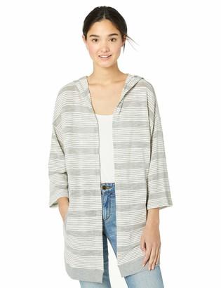 Jack by BB Dakota Women's Paris Nights Textured Stripe Hooded Jacket