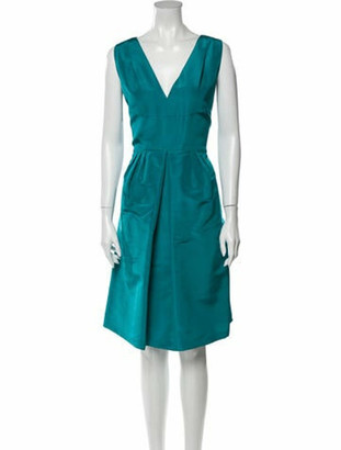 Oscar de la Renta 2009 Midi Length Dress Green
