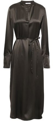 Vince Silk-satin Midi Shirt Dress
