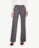 Ann Taylor Petite Glen Plaid High Waist Flare Trousers