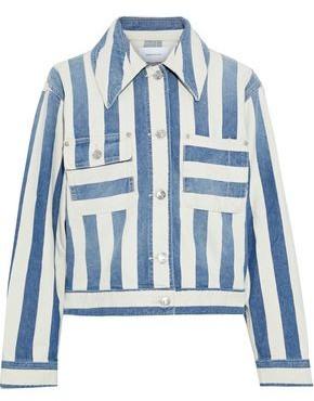 Current/Elliott The Sammy Striped Denim Jacket