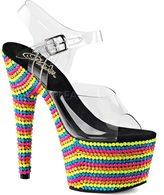 Pleaser USA Women's Adore 708RBS Ankle Strap Sandal