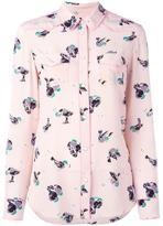 Coach bird print shirt - women - Silk - 0