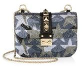 Valentino Small Camustars Crystal-Embroidered Chain Shoulder Bag