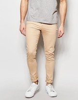 Asos Super Skinny Jeans In Light Pink