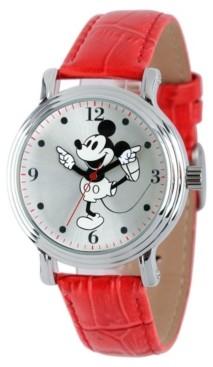 EWatchFactory Disney Mickey Mouse Women's Shiny Silver Vintage Alloy Watch