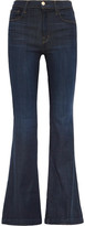 J Brand Maria High-rise Flared Jeans - Dark denim
