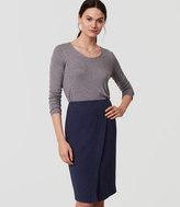 LOFT Tall Custom Stretch Wrap Pencil Skirt