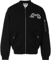 Moschino rear logo bomber jacket - men - Cotton/Polyester - S