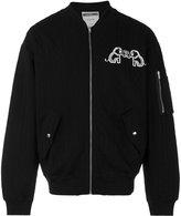 Moschino rear logo bomber jacket