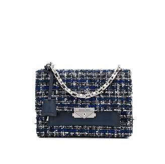 Michael Kors Navy Tweed Cece Crossbody Bag