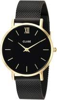 Cluse Women's Minuit 33mm IP Steel Bracelet Metal Case Quartz Watch CL30026
