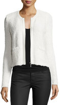 Joie Jacolyn B Collarless Cropped Jacket, Porcelain