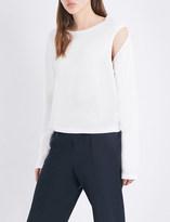 Maison Margiela Cutout cotton-jersey top