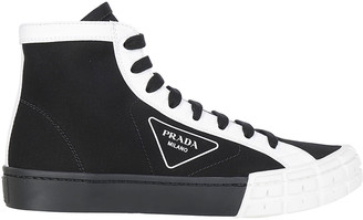 Prada Logo High Top Sneakers