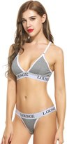 Ekouaer Womens Cotton Everyday Bras and Panties Set