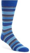 Bugatchi Big or Small Stripe Socks