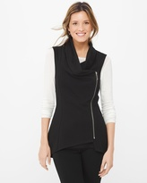 White House Black Market Cowl Neck Zip Vest