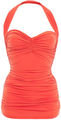 Norma Kamali Ruched Swimsuit