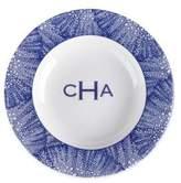 Caskata Personalized Sea Fan Blue Soup Bowl