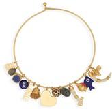 Tory Burch Women's Logo Charm Necklace